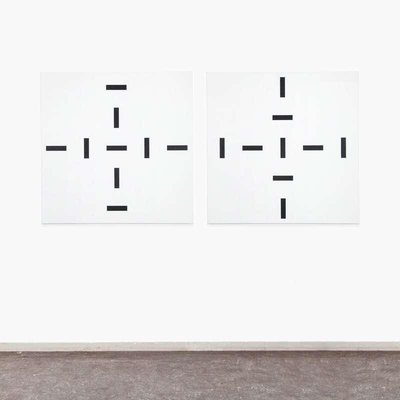 (1+8)+(1+8)=18, 2013, oil on canvas, 180 x 90 cm